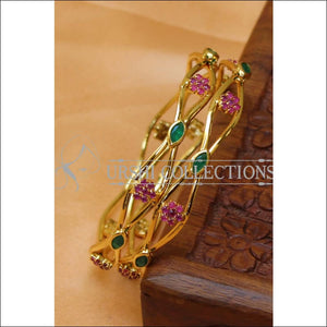 Designer Gold Plated CZ Bangle Set UC-NEW2433 - 2.4 / Multy - Bangles