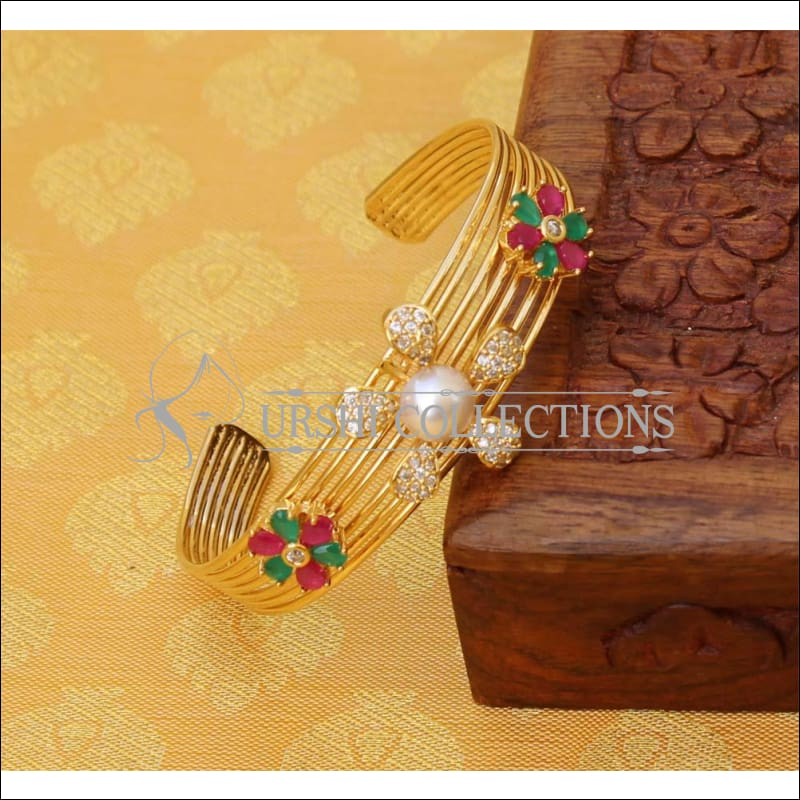 Designer Gold Plated CZ Kada UC-NEW1575 - Multi - Bracelets