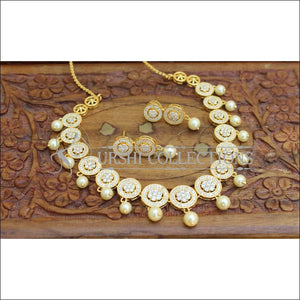 Designer Gold Plated CZ Necklace Set UC-NEW2007 - Necklace Set