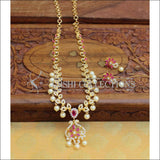 Designer Gold Plated CZ Necklace Set UC-NEW2009 - Necklace Set