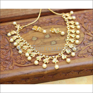 Designer Gold Plated CZ Necklace Set UC-NEW2010 - Necklace Set