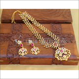Designer Gold Plated CZ Necklace Set UC-NEW2017 - Necklace Set