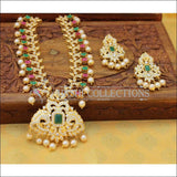 Designer Gold Plated CZ Necklace Set UC-NEW2542 - Multy&Green - Necklace Set