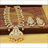 Designer Gold Plated CZ Necklace Set UC-NEW2542 - White - Necklace Set