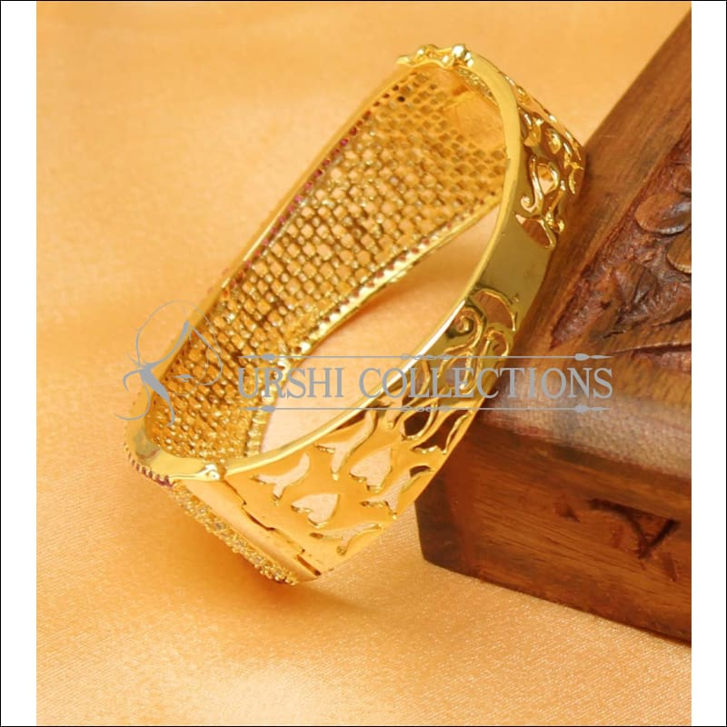 Designer Gold Plated CZ Openable Kada UC-NEW1570 - Bracelets