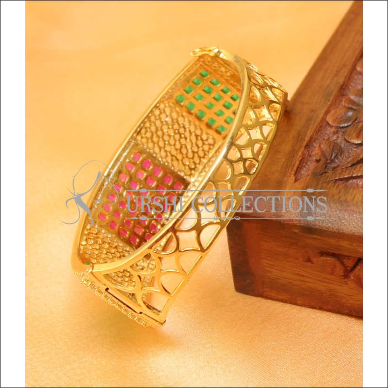 Designer Gold Plated CZ Openable Kada UC-NEW1586 - Bracelets