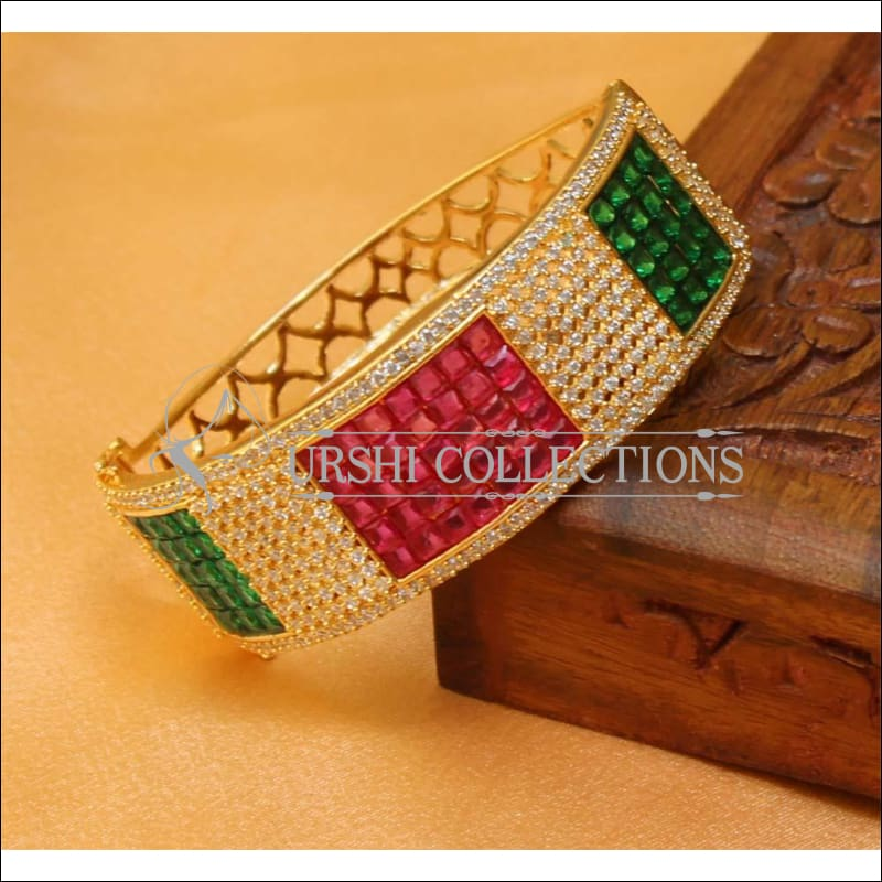 Designer Gold Plated CZ Openable Kada UC-NEW1586 - Multi - Bracelets