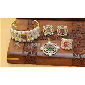 Designer Gold Plated CZ Openable Kada UC-NEW2590 - Multi - Bracelets