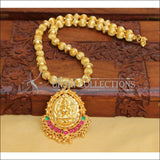 DESIGNER GOLD PLATED HAND MADE TEMPLE NECKLACE UC-NEW2868 - MULTI - Necklace Set