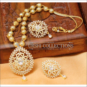 Designer Gold Plated Handmade Necklace Set UC-NEW1000 - White - Necklace Set