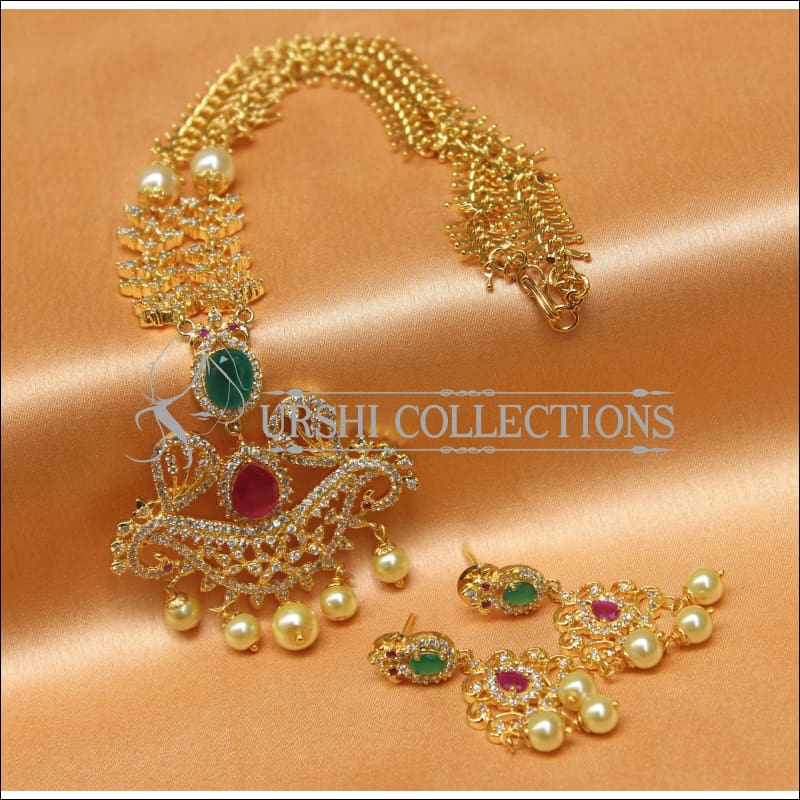Designer Gold Plated Handmade Necklace Set UC-NEW1022 - Necklace Set