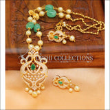 Designer Gold Plated Handmade Necklace Set UC-NEW1026 - Green - Necklace Set