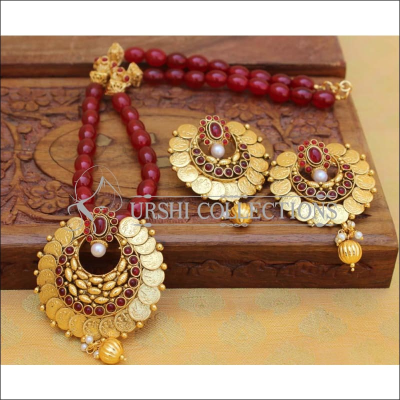Designer Gold Plated Handmade Necklace Set UC-NEW2784 - Necklace Set
