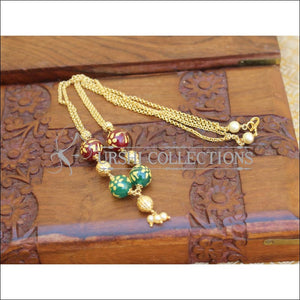 DESIGNER GOLD PLATED HANDMADE NECKLACE UTV272 - Necklace Set
