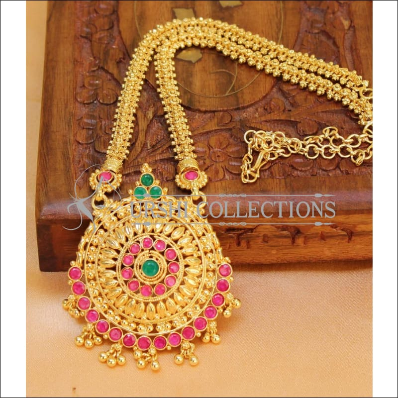 Designer Gold Plated Kempu Necklace Set UC-NEW146 - Necklace Set