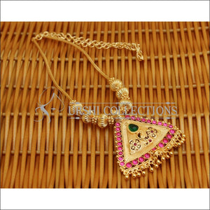 DESIGNER GOLD PLATED KEMPU NECKLACE UC-NEW2859 - Necklace Set