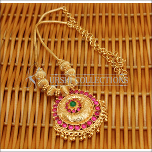 DESIGNER GOLD PLATED KEMPU NECKLACE UC-NEW2861 - Necklace Set