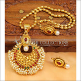 Designer Gold Plated Kempu Pendant Set UC-NEW2626 - Multi - Pendant Set