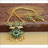 Designer Gold Plated Kempu Pendant Set UC-NEW2637 - Green - Pendant Set