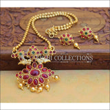 Designer Gold Plated Kempu Pendant Set UC-NEW2637 - Multi - Pendant Set