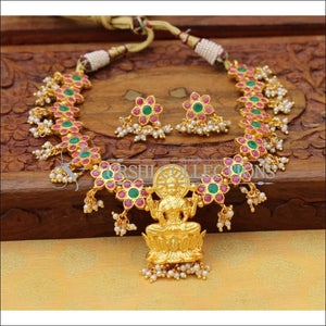 Designer Gold Plated Lakshmi Necklace Set UC-NEW810 - Necklace Set