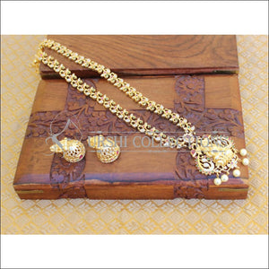 DESIGNER GOLD PLATED LONG TEMPLE NECKLACE UTV197 - Necklace Set