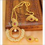 Designer Gold Plated Mango Pendant Set UC-NEW2707 - Red - Pendant Set