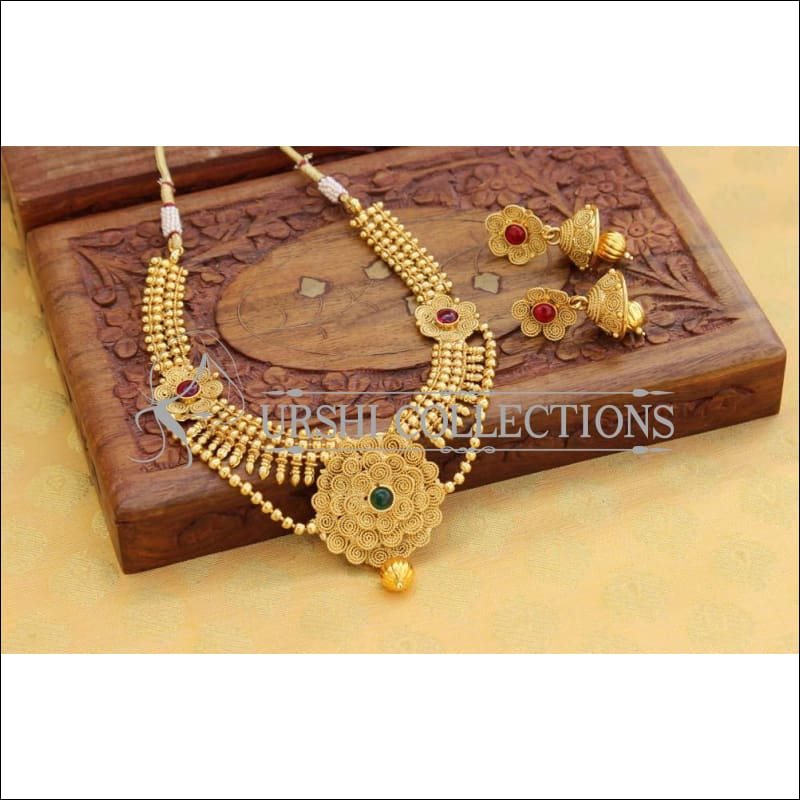 Designer Gold Plated Necklace Set UC-NEW102 - Multi - Necklace Set