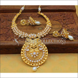 Designer Gold Plated Necklace Set UC-NEW108 - White - Necklace Set