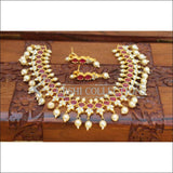 Designer Gold Plated Necklace Set UC-NEW1390 - Red - Necklace Set