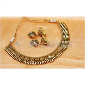 Designer Gold Plated Necklace Set UC-NEW2061 - White - Necklace Set