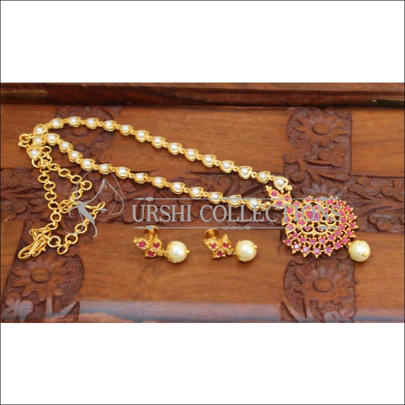 DESIGNER GOLD PLATED NECKLACE SET UC-NEW3001 - Necklace Set