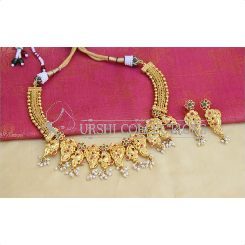 Designer Gold Plated Necklace Set UC-NEW807 - Necklace Set