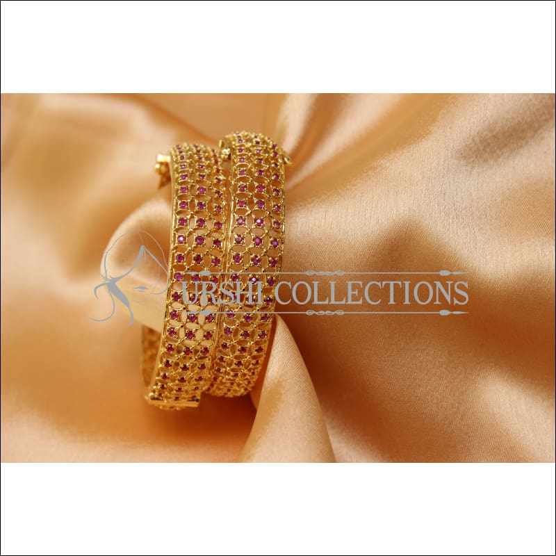 Designer Gold Plated Openable CZ Bangle Set UC-NEW1583 - 2.6 - Bangles