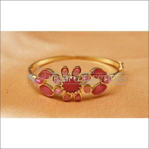 Designer Gold Plated Openable Kada UC-NEW1711 - Pink - Bracelets