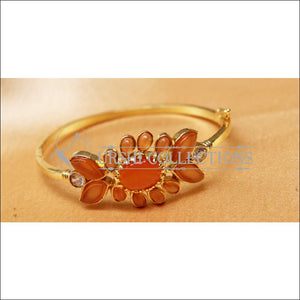 Designer Gold Plated Openable Kada UC-NEW1719 - Orange - Bracelets