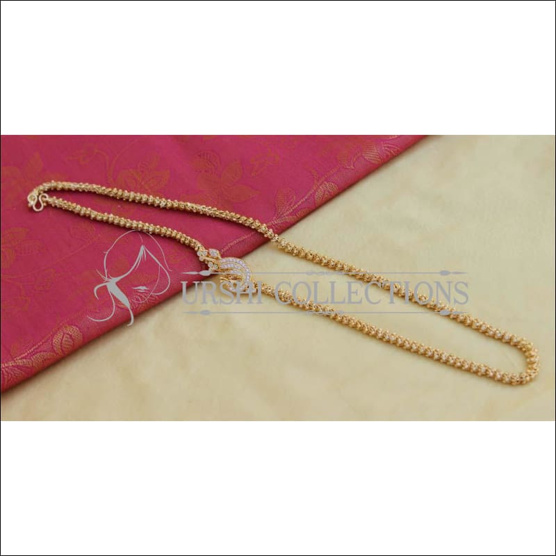 Designer Gold Plated Peacock Moppu Chain UC-NEW2335 - Moppu chain