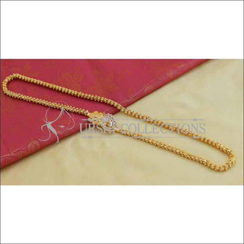 Designer Gold Plated Peacock Moppu Chain UC-NEW2342 - Moppu chain