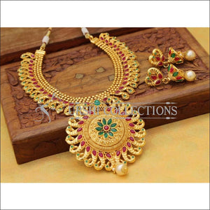 Designer Gold Plated Peacock Necklace Set UC-NEW764 - Multi - Necklace Set