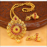 Designer Gold Plated Pendant Set UC-NEW1879 - Ruby - Pendant Set