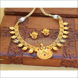 DESIGNER GOLD PLATED RUBY NECKLACE SET UC-NEW3008 - Necklace Set