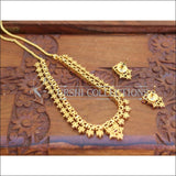 DESIGNER GOLD PLATED RUBY NECKLACE SET UC-NEW3196 - Necklace Set