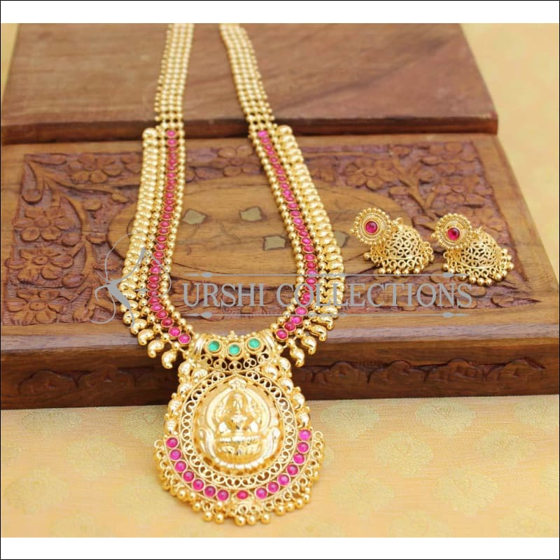 Designer Gold Plated Temple Necklace Set UC-NEW397 - Necklace Set