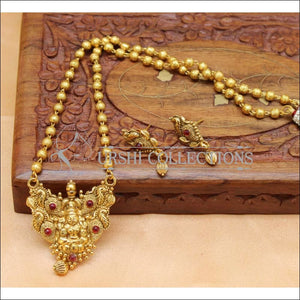 Designer Gold Plated Temple Pendant Set UC-NEW2028 - Pendant Set