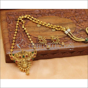 Designer Gold Plated Temple Pendant Set UC-NEW2032 - Multy - Pendant Set