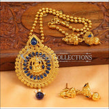Designer Gold Plated Temple Pendant Set UC-NEW2496 - Blue - Pendant Set