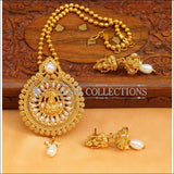 Designer Gold Plated Temple Pendant Set UC-NEW2496 - White - Pendant Set