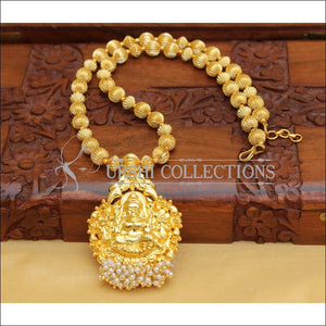 DESIGNER HAND MADE GOLD PLATED TEMPLE NECKLACE UC-NEW2874 - Necklace Set