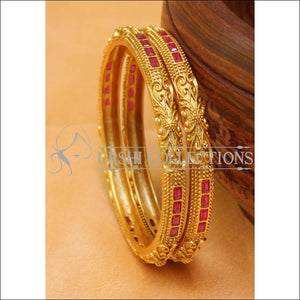 Designer Matte Finish Bangle Set UC-NEW2441 - Bangles