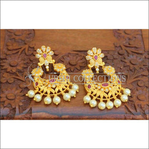 Designer Matte Finish CZ Earrings - Earrings